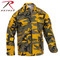 Stinger Yellow Camo Color BDU Fatigue Shirt - Rothco Brand