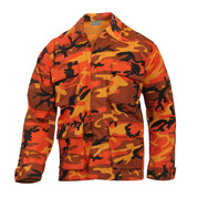 Savage Orange Camo Color BDU Fatigue Shirt - View