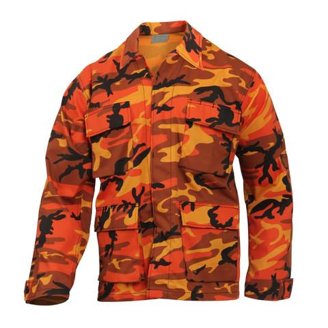 Savage Orange Camo Color BDU Fatigue Shirt - View
