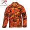Savage Orange Camo Color BDU Fatigue Shirt - Rothco View