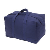 Small Navy Canvas Parachute Cargo Bag - View