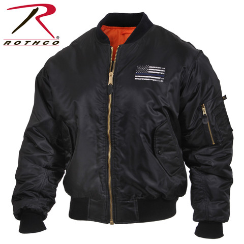 Rothco Thin Blue Line MA-1 Flight Jacket - Rothco View