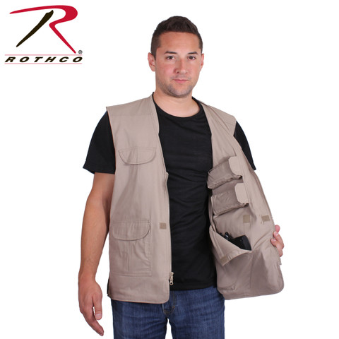 Lightweight Professional Khaki Concealed Carry Vest - Model View
