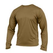 Coyote Brown GEN III Silk Weight Underwear Tops - View