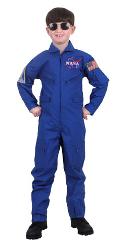 Kids NASA Flight Suit w/ Patches - Model View