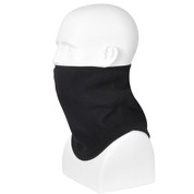Black Polar Fleece Contoured Neck Gaitor - View
