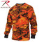 Savage Orange Camo Long Sleeve T Shirt - Rothco Brand