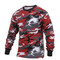 Red Camo Long Sleeve T Shirts - View