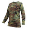 Rothco Woman's Camo Long Sleeve T Shirt - Side View