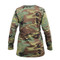 Rothco Woman's Camo Long Sleeve T Shirt - Back View