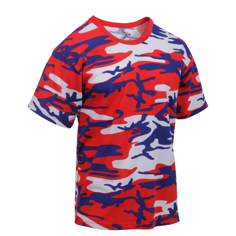Rothco Red White Blue Camo T Shirt - Side View