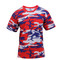 Rothco Red White Blue Camo T Shirt - Front View