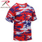 Rothco Red White Blue Camo T Shirt - Rothco Brand
