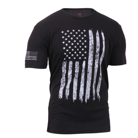 Rothco Distressed US Flag Athletic Fit T Shirt - View