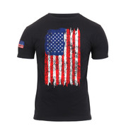 Rothco Distressed Colors US Flag Athletic Fit T Shirt - View