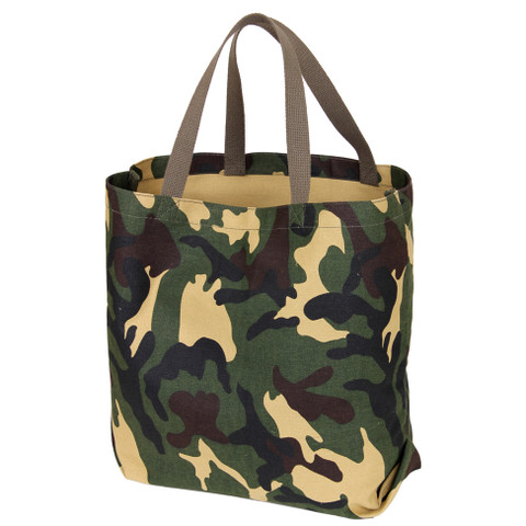 Camo Canvas Shopping Tote Bag - View
