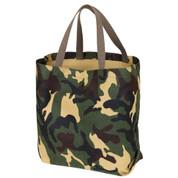 Camo Canvas Shopping Tote Bag - View