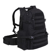 Black Multi Chamber MOLLE Assault Pack