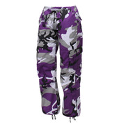 Womens Purple Camo Paratrooper Fatigues - View
