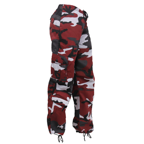 Womens Red Camo Paratrooper Fatigues - View