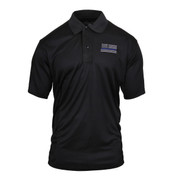 Thin Blue Line Moisture Wicking Polo Shirt - View