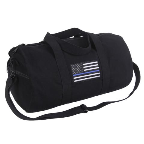 Thin Blue Line Canvas Shoulder Sport Bag - View