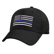 Kids Blue Thin Line Flag Low Profile Cap - View
