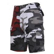 Two Tone Color Red Camo/City Camo BDU Short - View