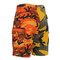 Two Tone Color Stinger Yellow/Savage Orange Camo Short - Back View