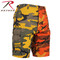 Two Tone Color Stinger Yellow/Savage Orange Camo Short - Rothco