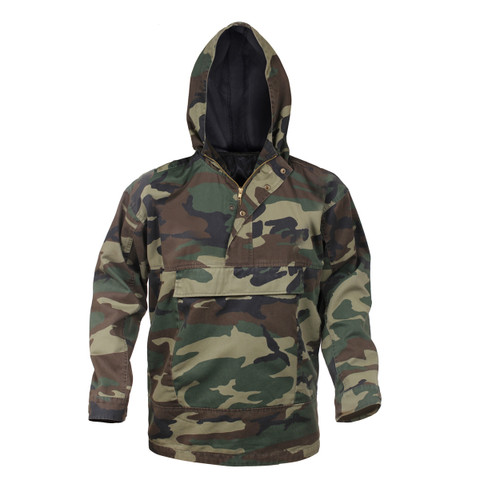 Rothco Camo Anorak Parka - Hooded View