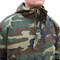 Rothco Camo Anorak Parka - Front Zipper View