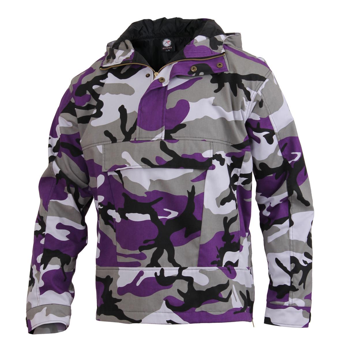 f176d2678b3f37 Shop Purple Camo Anorak Parkas - Fatigues Army Navy Gear