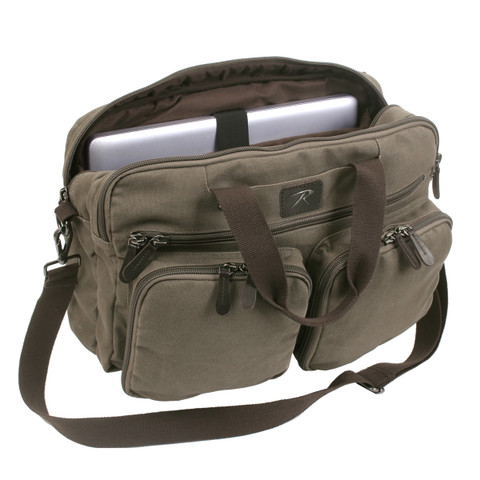 Canvas Briefcase Combo Backpack - Inner View