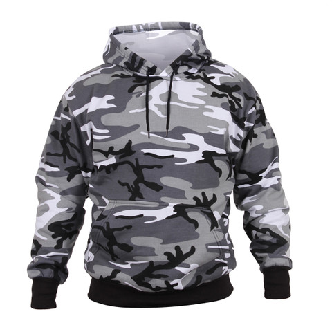City Camo Hooded Pullover Sweatshirt - View
