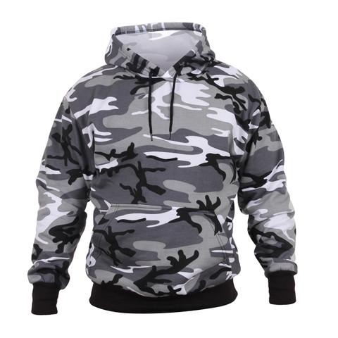City Camo Hooded Pullover Sweatshirt - View