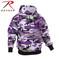Purple Camo Hooded Pullover Sweatshirt - Rothco View