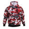 Red Camo Hooded Pullover Sweatshirt - View