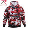 Red Camo Hooded Pullover Sweatshirt - Rothco Brand