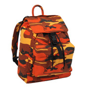 Savage Orange Camo Canvas Daypack - View