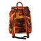 Savage Orange Camo Canvas Daypack - Back Strap View