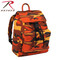 Savage Orange Camo Canvas Daypack - Rothco Brand