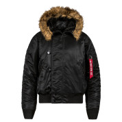 Alpha Black N 2B Short Waist Parka - View