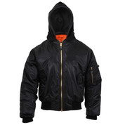 Rothco Hooded MA-1 Flight Jacket - Hooded View