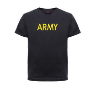 Kids Army Black T Shirt - View