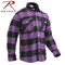 Extra Heavyweight Buffalo Purple Plaid Flannel Shirts - Rothco View