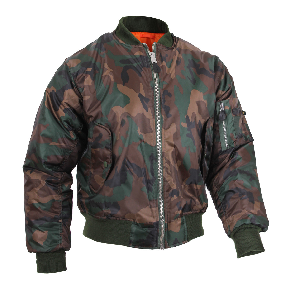 Gas Leather Look Reversable Jacket Camo