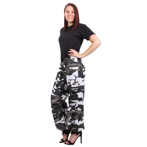 Womens City Camo Paratrooper Fatigues  - Model View