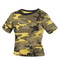 Woman's Stinger Yellow Camo Crop Top - View