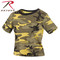 Woman's Stinger Yellow Camo Crop Top - Brand Rothco